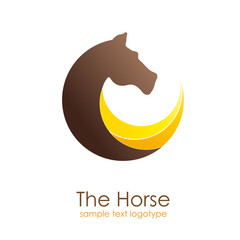 Logo horse in motion # Vector