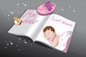libro bebè rosa