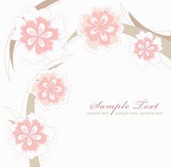 Romantic Pink Flower Background