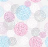 Abstract seamless circle pattern