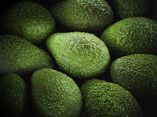 Close up of green avocados