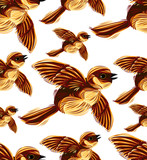 Birds migration seamless pattern. poster