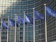 Leinwanddruck Bild - Europafahnen vor der EU-Kommission Brüssel9