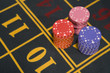 Close up of gambling chips