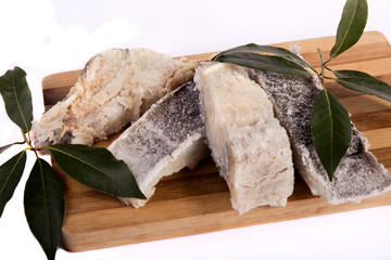 slices of salted cod
