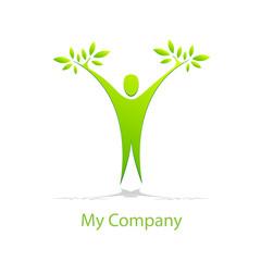 Logo man and tree # vector