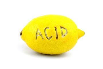 Lemon with inscription