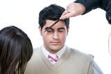 Brushing eyebrow poster