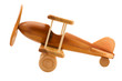 Leinwandbild Motiv wooden toy airplane close up