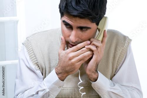 Having a phone call at work