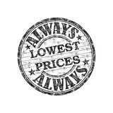 Always lowest prices stamp poster