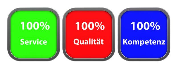 Service, Qualität, Kompetenz
