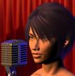 female singer illustration