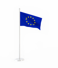 3D flag of the European Union