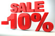 Sale - price reduction of 10%