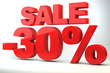 Sale - price reduction of 30%
