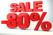Sale - price reduction of 80%