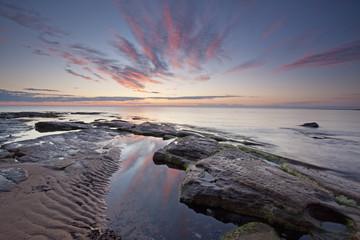 """Ocean and tide pools, Djupavik, Iceland"""