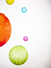 Paper with coloured circles