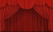 Theater curtain.  Presentation. Cinema.