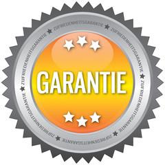 Button - Garantie - gelb