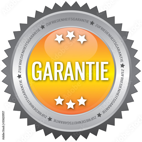 Button - Garantie - gelb