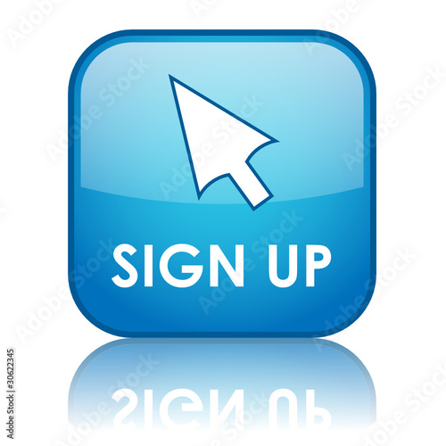 SIGN UP Web Button (subscribe register new account user join ok)