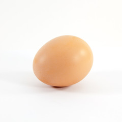 Single egg isolated on white