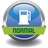 Button - Kraftstoff - Normal - blau poster