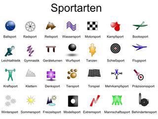 Sporticons farbig