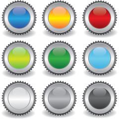 Button - Siegel - set - bunt