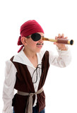 Pirate looking through scope poster