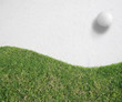 white Golf ball on green grass