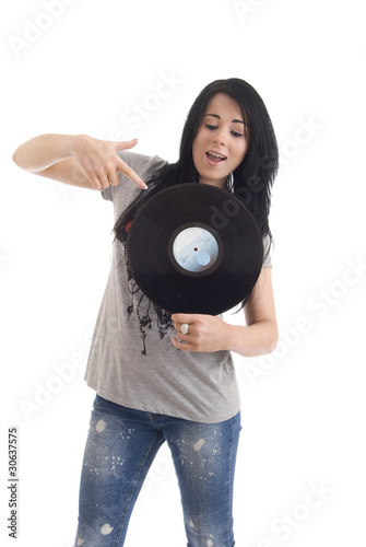 Woman with lp