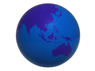 Blue World Globe v2 - Asia&Australia
