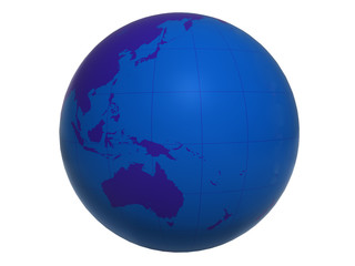 Blue World Globe - Australia