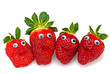fröhliche Erdbeeren