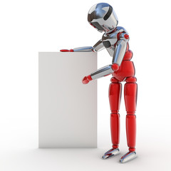 Robot cartel publicitario