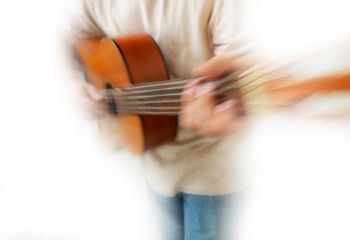 Zoom Blur Guitar Player