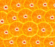 Orange slices texture for background