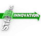 Innovation vs Stagnation - Creative Change Versus Status Quo poster