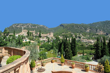 La ville de Valldemossa à Majorque
