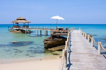 Wooden pier , Thailand