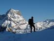 Bergsteiger vor Widderstein im Winter