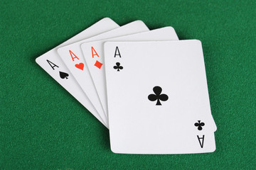 Four ace playing cards