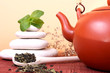Teapot with mentha