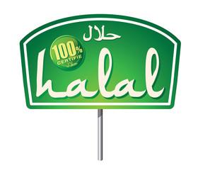 enseigne produit halal certifié