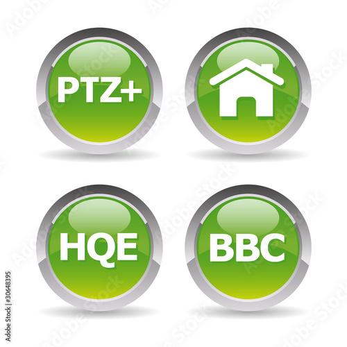 Pictos maison bbc hqe ptz de claire fichier vectoriel for Droit au ptz