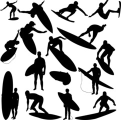 surfers collection 1 - vector