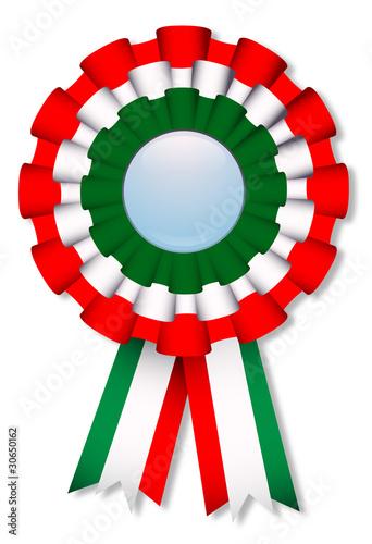 Coccarda tricolore italiana - Italian cockade